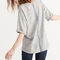 Womens Back-Zip Boxy Top | Womens Tops | Abercrombie.com