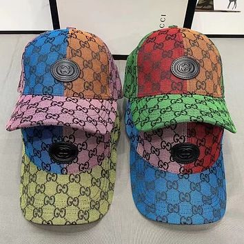 GUCCI  Embroidered duck tongue hat