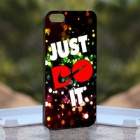 Nike Just Doit Polka dots, Print on Hard Cover iPhone 5 Black Case
