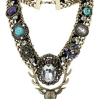 Stag Mixed Stone Necklace - New In This Week  - New In