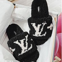 Louis Vuitton LV Womens Fluff Yeah Slides Shoes slippers