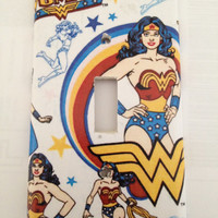 Wonder Woman DC Comics Light Switch Covers Wallplates Switchplates Home Decor Outlet 14 STYLES AVAILABLE
