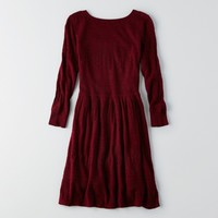 AEO TEXTURED FIT & FLARE DRESS