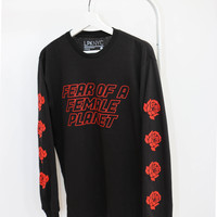 Fear of A Female Planet Roses Long Sleeve Shirt