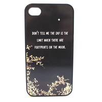 Footprints on the Moon Phone Case