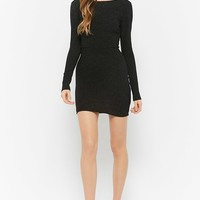 Glitter Caged Low-Back Bodycon Dress