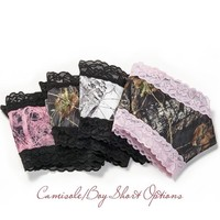 Mossy Oak Break Up Boy Short Pantie with Lace Trim