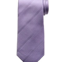 Banana Republic Mens Textured Stripe Silk Tie Size One Size - Light purple