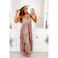 Got A Feeling Tiered Ruffle Maxi Dress (Mauve)