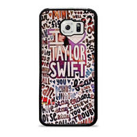Taylor Swift Song Collage Actrees Samsung Galaxy S6 Case