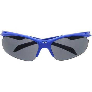 Kids Action Sports Semi Rimless Sporty Sunglasses D186