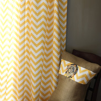 Chevron curtains-  FULL LENGTH window treatments