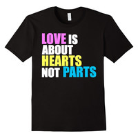 Love is about Hearts Not Parts, LGBT Pride Equality T Shirt