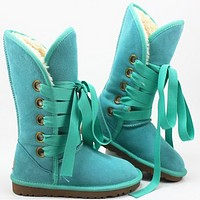 UGG Hight top snow boots ordinary color series green