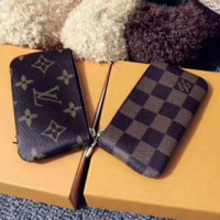 Louis Vuitton Women Men Fashion Print Monogram Canvas Key Pouch M62650 Coffee G