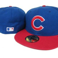 DCCKBE6 Chicago Cubs New Era 59FIFTY MLB Hat Blue-Red