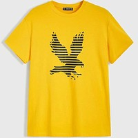 Fashion Casual Men Eagle Print Top
