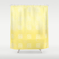 Sunny Triangles Shower Curtain by Kat Mun