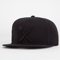 Us Versus Them Crosscut Mens Snapback Hat Black One Size For Men 20938010001