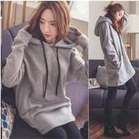 Maternity Clothes Oversize Hoodies For Pregnant Women Clothing Winter Tops Pullovers Warm Pregnancy Sweatshirts Outwear Hoodie