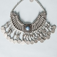 Cleopatra Coined Silver Necklace