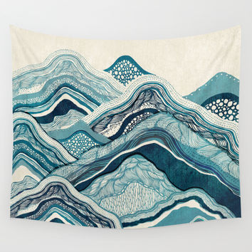 Blue Hike  Wall Tapestry by Rskinner1122