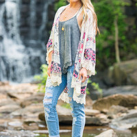 Cool And Collected Kimono, White