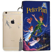 Disney's Peter Pan Holding Logo Clear Case For Apple Iphone 5 / 5s / SE + Pouch