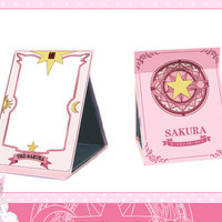 Card Captor Sakura Magic Book folding mirror make-up mirror sold by Harajuku fashion