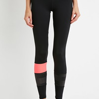 Colorblock Dot-Paneled Leggings