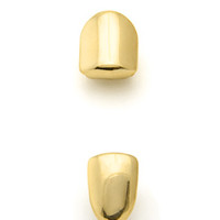 King Ice Gold Single Tooth Cap Grillz Set