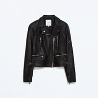 Biker jacket with zips