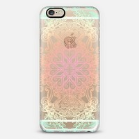 Vintage Fancy - Tropical Pastels on Transparent iPhone 6 case by Micklyn Le Feuvre | Casetify