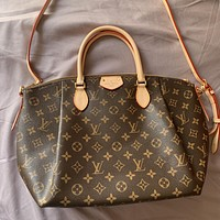 LV Fashion Printed Shopping Bag Ladies One Shoulder Bag