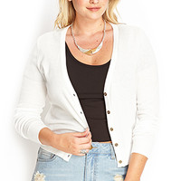 FOREVER 21 PLUS Fitted V-Neck Cardigan