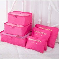 6 Pcs/Set Waterproof Clothes Storage Bags Packing Cube Travel Luggage Organizer 615311270884