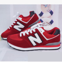 New balance abric is breathable n leisure sports Couples forrest gump running Red