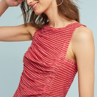 Striped & Ruched Top