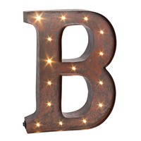 Letter ''b'' LED Lighted Wall Decor (Brown)