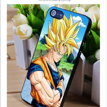 Sun Goku saiyan iPhone for 4 5 5c 6 Plus Case, Samsung Galaxy for S3 S4 S5 Note 3 4 Case, iPod for 4 5 Case, HtC One for M7 M8 and Nexus Case