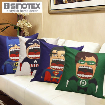 "17"" Big Mouth Super Hero Pillow Cases"