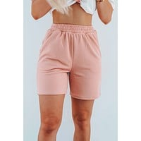 Reach For It Jogger Shorts: Blush