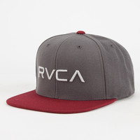 Rvca Twill Iii Mens Snapback Hat Charcoal One Size For Men 26631211001
