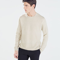Combination knitted sweater