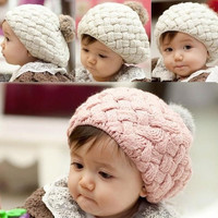 Winter Knit Crochet Beanie Hat For Baby Kids Girls Boys Gift 3Colors 5400 = 1644793412