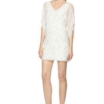 alice + olivia | OLYMPIA EMBELISHED TUNIC DRESS