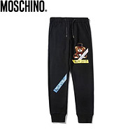 Moschino 2019 new casual wild men and women sports feet pants pants Black