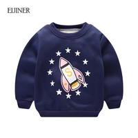 Winter Baby Boys Tshirts 2017New Cotton Long Sleeve Shirts for Boys 0-3T Toddler Kids Warm Fleece T shirts Baby Warm Tops Tees
