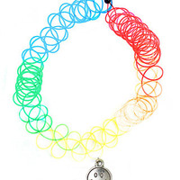 Rainbow Smiley Choker