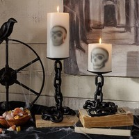 Chain Link Pillar Candle Holders
